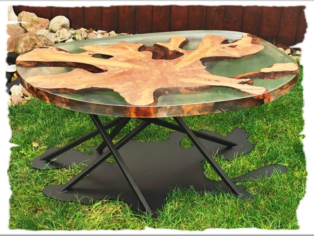 Konferenční stolek z teakového kořene